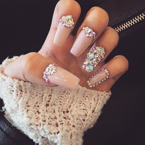 Diamonds Nail Art Design Ideas: Uñas Con Piedras 2018